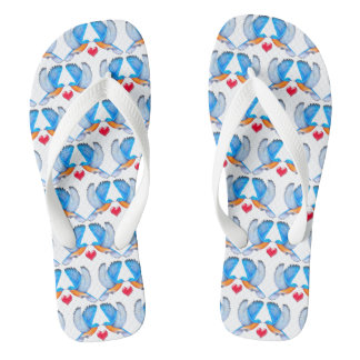 Bluebird of Happiness Adult Flip Flops Thongs