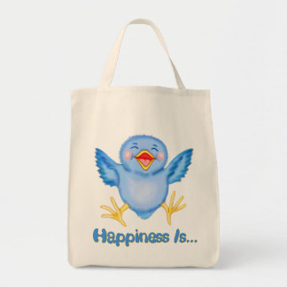 Bluebird of Happiness Grocery Tote Bag