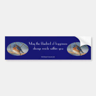 Bluebird Of Happiness Inspirational Bumper Sticker