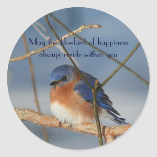 Bluebird Of Happiness Inspirational Sticker