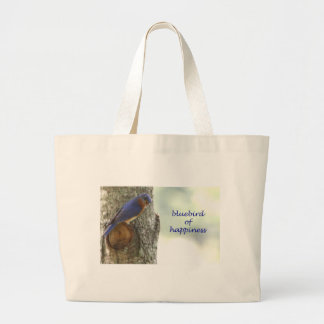 Bluebird of Happiness Jumbo Tote Bag