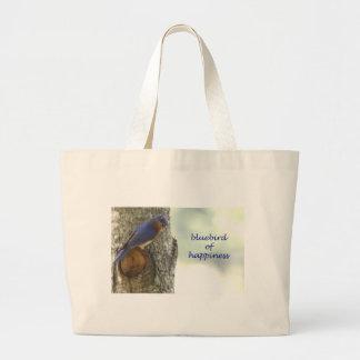 Bluebird of Happiness Jumbo Tote Bag