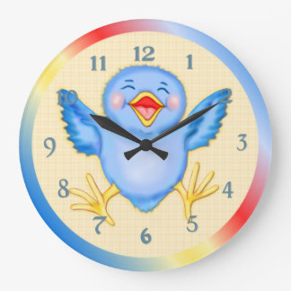 Bluebird of Happiness Large Clock