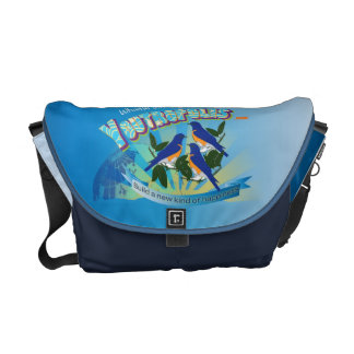 Bluebird of Happiness Messenger Bag