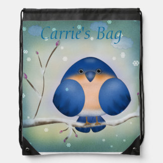 Bluebird of Winter Rucksack