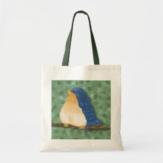 Bluebird Painting Tote Bag