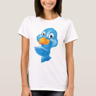 Bluebird Peeking Around Sign T-Shirt