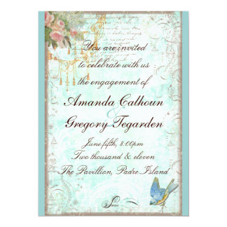 Bluebird & Pink Roses Engagement Announcement