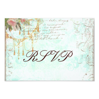 Bluebird & Pink Roses RSVP Cards