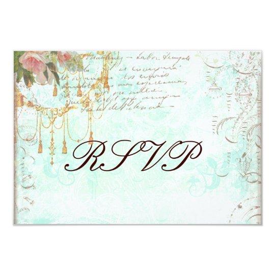 Bluebird & Pink Roses RSVP Cards 9 Cm X 13 Cm Invitation Card