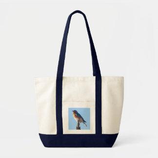 Bluebird Pocket Tote Canvas Bag
