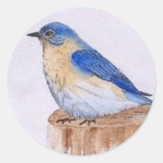 Bluebird Round Sticker