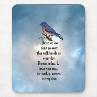 "Bluebird ""so Loved"" Poem Mouse Pad"