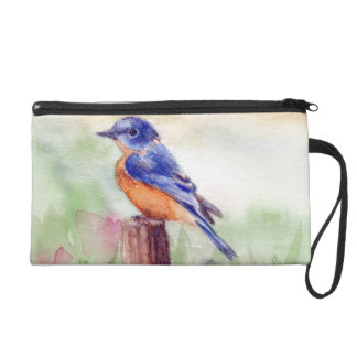 Bluebird Song Wristlet Clutches