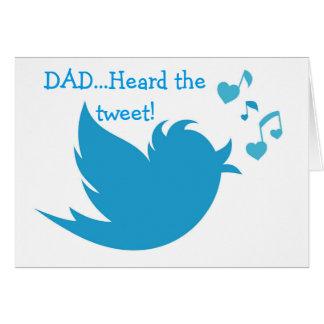 BLUEBIRD TWEETS YOU HAPPY BIRTHDAY DAD GREETING CARD