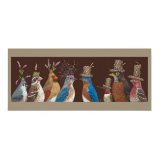 bluebird wedding party flat card 10 cm x 24 cm invitation card