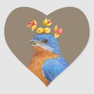 bluebird with bittersweet stickers