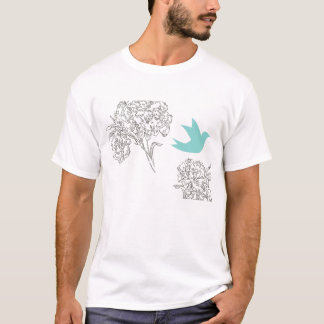Bluebird with flowers T-Shirt