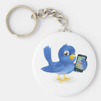 Bluebird with mobile phone key chains
