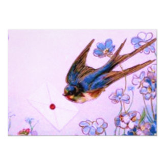 Bluebird with Note Card