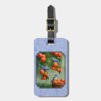 Bluebirds and Peaches Blue Luggage Tag