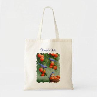 Bluebirds and Peaches Budget Tote Bag