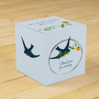 Bluebirds and Yellow Flowers Favour Box