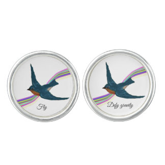 "Bluebirds, ""Fly, Defy Gravity"" Cufflinks"