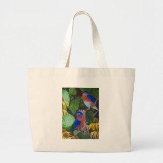 Bluebirds Jumbo Tote Bag