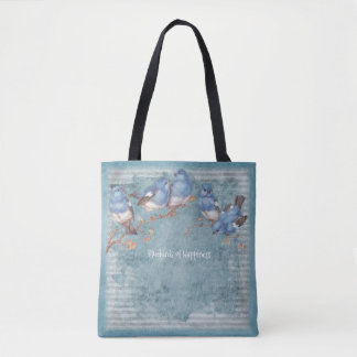 Bluebirds of Happiness - Pastel Blue - Handbag