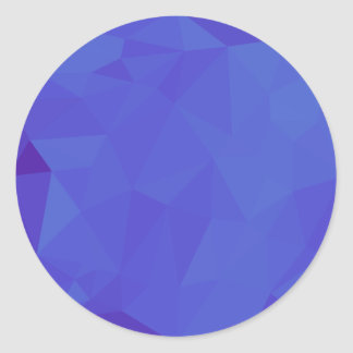 Bluebonnet Abstract Low Polygon Background Classic Round Sticker
