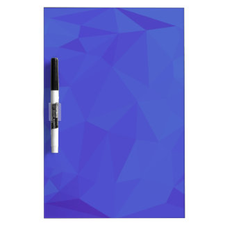 Bluebonnet Abstract Low Polygon Background Dry Erase Board