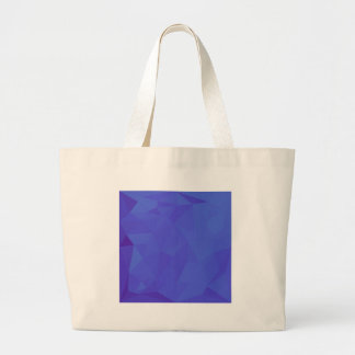 Bluebonnet Abstract Low Polygon Background Large Tote Bag
