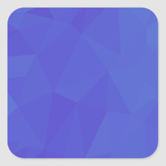 Bluebonnet Abstract Low Polygon Background Square Sticker