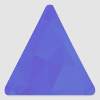 Bluebonnet Abstract Low Polygon Background Triangle Sticker