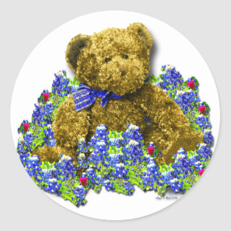 Bluebonnet Bear Sticker