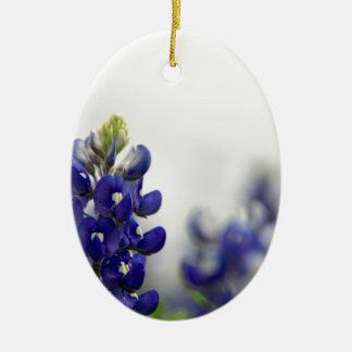 bluebonnet blue ceramic oval decoration
