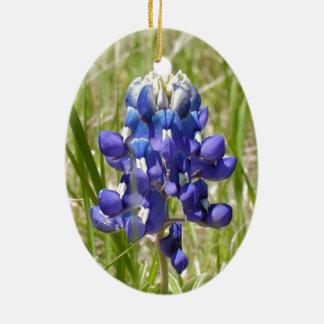 Bluebonnet Ceramic Oval Decoration