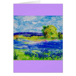 bluebonnet fields greeting card