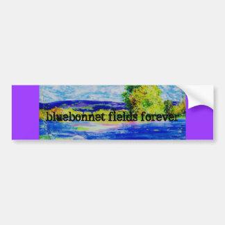bluebonnet fields forever car bumper sticker