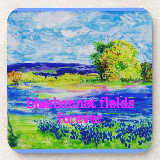 bluebonnet fields forever coasters