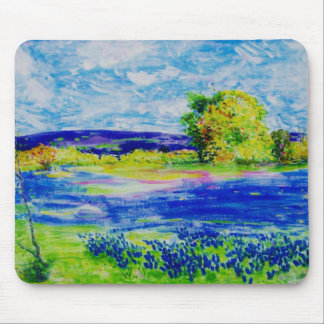 bluebonnet fields forever mouse pad