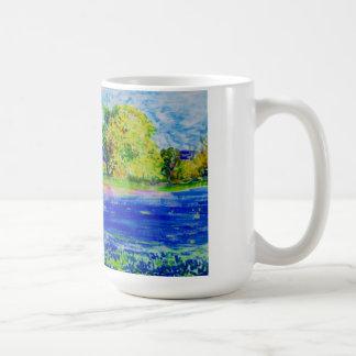 bluebonnet fields forever basic white mug