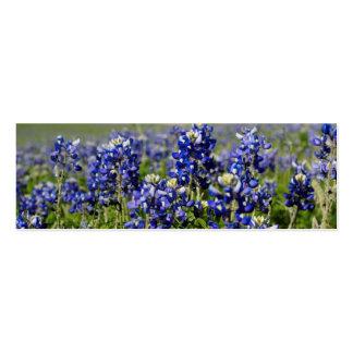 Bluebonnet flower pack of skinny business cards