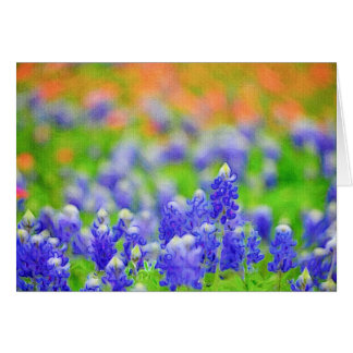 Bluebonnet on Canvas Card