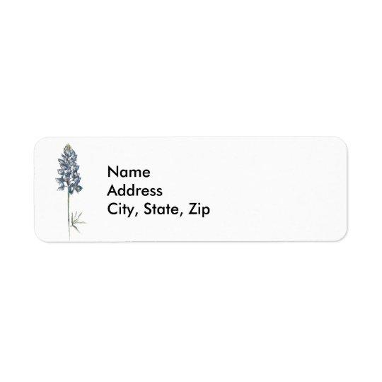 Bluebonnet Return Address Label