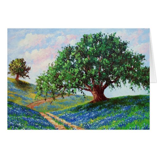 """Bluebonnet Road"" (Blank Card)"