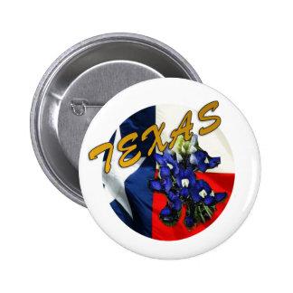 Bluebonnet Texas Flag button