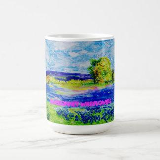 bluebonnet wildflowers basic white mug