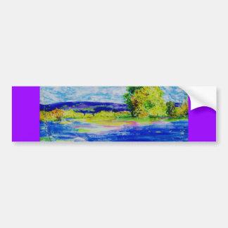 bluebonnet wildflowers car bumper sticker